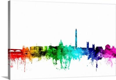 Washington DC Skyline, Rainbow