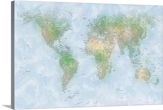 World Cities Map
