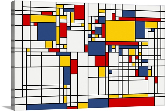 World map abstract mondrian style wall art canvas prints framed world map abstract mondrian style gumiabroncs Image collections