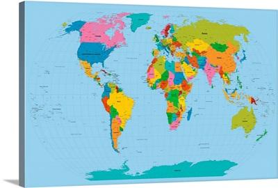 World Map Bright