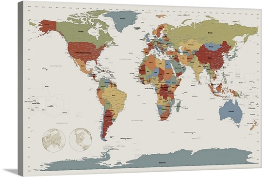 World map in camouflage colors wall art canvas prints framed by michael tompsett world map in camouflage colors canvas publicscrutiny Choice Image