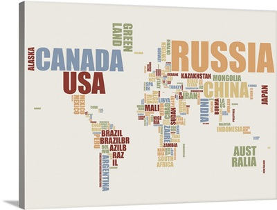 World Map in Words 2