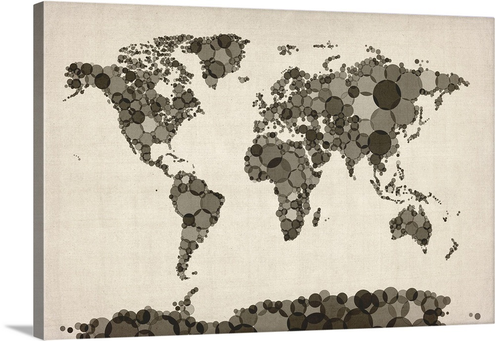 World Map made up of Circles on made up topographic maps, made up flags, made up gifts, made up toys, made up characters, made up games, made up photography, made up solar system, made up physical maps, made up country maps, made up military,