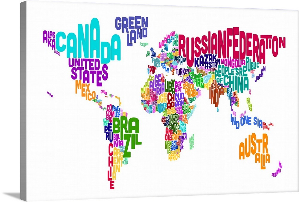 World Map made up of country names on made up topographic maps, made up flags, made up gifts, made up toys, made up characters, made up games, made up photography, made up solar system, made up physical maps, made up country maps, made up military,