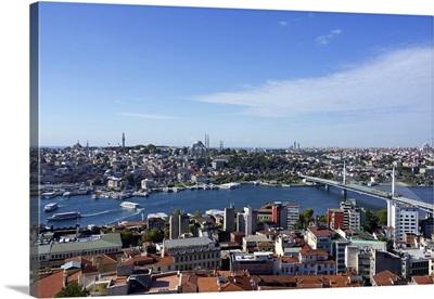 City skyline of Istanbul, Turkey, on a clear day