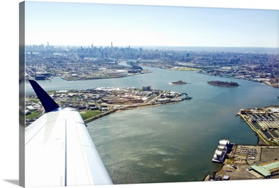 Just took off from La Guardia airport, New York, New York