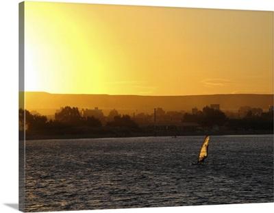 sunset over Puerto Madryn