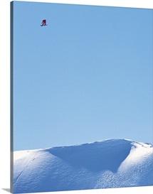 Massive Snowboarder Drop In