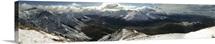 New Zealand mountain panorama