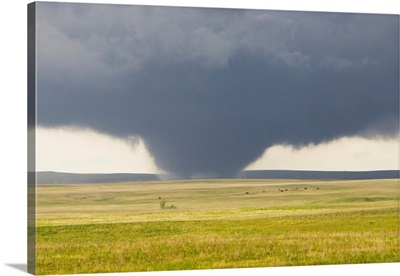 A powerful tornado rips through the South Dakota countryside