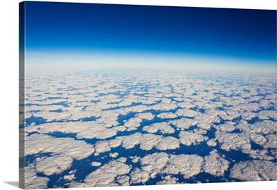 Above the clouds at 36,000 feet somewhere over the state of Florida