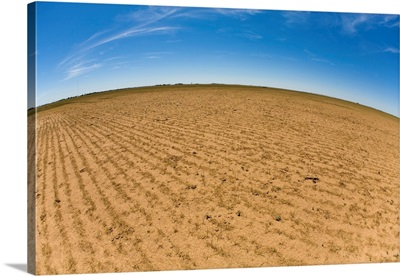 Dried up soil in extreme drought conditions in the Texas panhandle