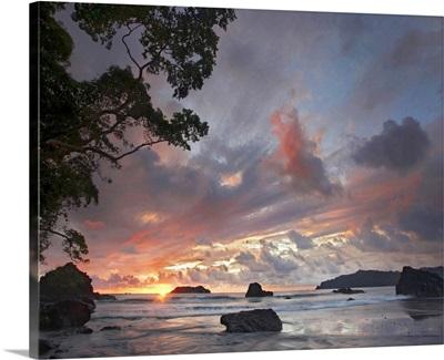 Beach and coastline, Manuel Antonio National Park, Costa Rica