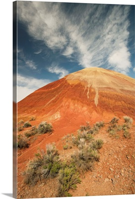 Bentonite clay deposits, Painted Hills, John Day National Monument, Oregon