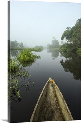 Canoe on Lekoli River, Democratic Republic of the Congo