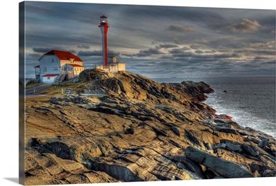 Cape Forchu Lightstation, Yarmouth, Nova Scotia, Gulf of Maine, Canada