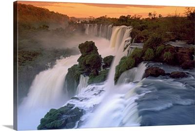 Cascades of the Iguacu Falls, Iguacu National Park, Argentina
