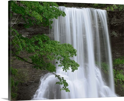 Cascading waterfall in Jefferson National Forest, Virginia