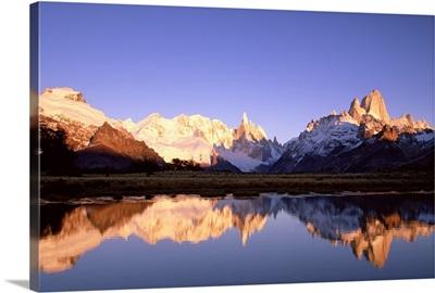 Cerro Torre and Mount FitzRoy, Cerro Solo, Los Glaciares National Park, Patagonia