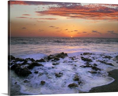 Coast at sunset, Blowing Rocks Beach, Jupiter Island, Florida