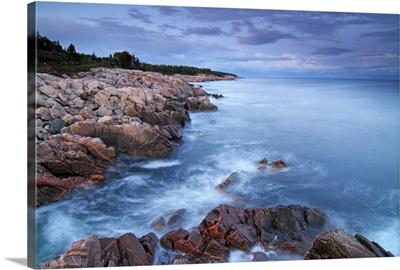 Landscape 5 panel art. South shore photography Canadian Maritimes Lunenburg Nova Scotia canvas wall art Framed panoramic wide room decor