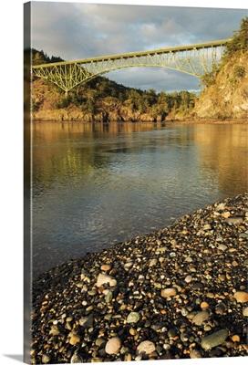 Deception Pass Bridge from North Beach, Whidbey Island, Washington