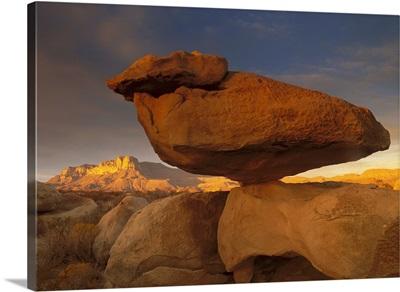 El Capitan and Balanced Rock, Guadalupe Mountains National Park, Texas