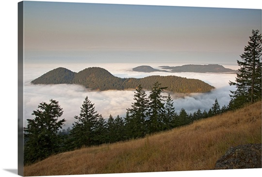 Entrance Mountain and Mount Woolard, San Juan Islands, Washington