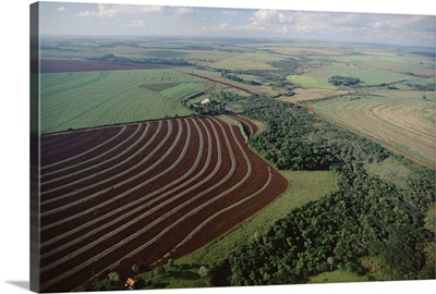Farming region with forest remnants, southern Brazil
