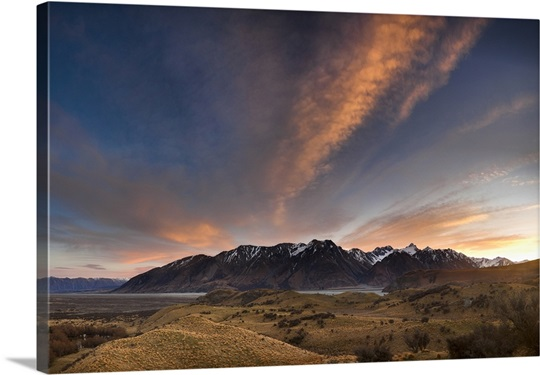 High clouds from Jumped Up Downs hill on Erewhon Station, Canterbury, New Zealand