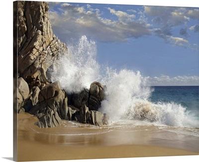 Lover's Beach with crashing waves, Cabo San Lucas, Mexico