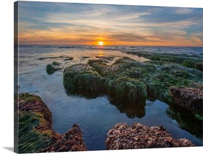 Low Tide At Sunset, La Jolla Cove, San Diego, California