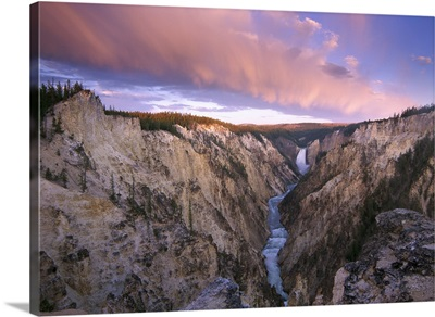 Lower Yellowstone Falls Yellowstone National Park Wyoming