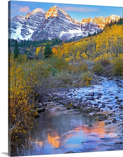 Maroon Bells and Maroon Creek, Colorado