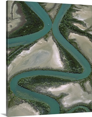 Meandering rivers, Gulf of Carpentaria, Northern Territory, Australia