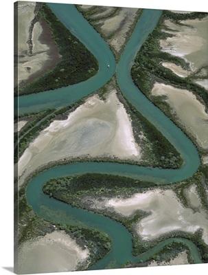 Meandering rivers, Gulf of Carpentaria, Northern Territory, Australia