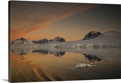 Peaks at sunset, Wiencke Island, Antarctic Peninsula, Antarctica