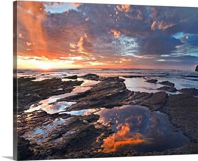 Pelada Beach at sunset, Costa Rica