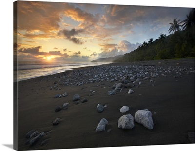 Rocks on beach, Corcovado National Park, Costa Rica