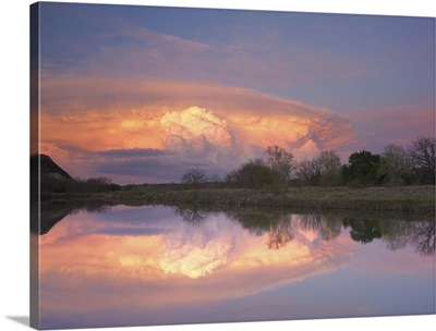 Storm clouds over South Llano River, South Llano River State Park, Texas