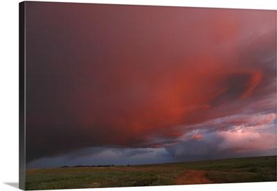 Stormy sky at twilight, Alentejo, Portugal