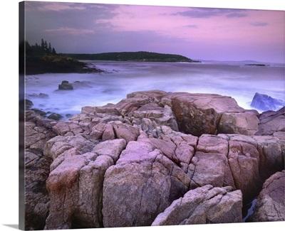 Sunset of the Atlantic Ocean near Thunder Hole, Acadia National Park, Maine