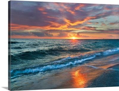 Sunset Over Ocean, Gulf Islands National Seashore, Florida