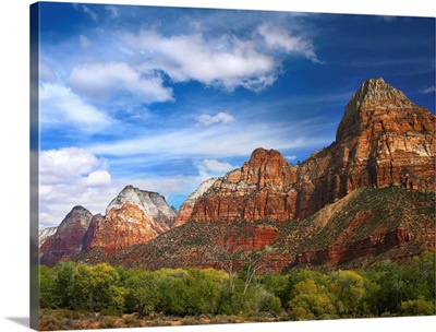 The Watchman, outcropping near south entrance of Zion National Park, Utah