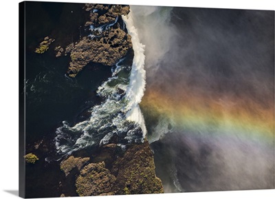 Victoria Falls cascading 420 feet into chasm, Zimbabwe