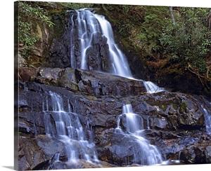 Waterfall Laurel Creek Great Smoky Mountains National
