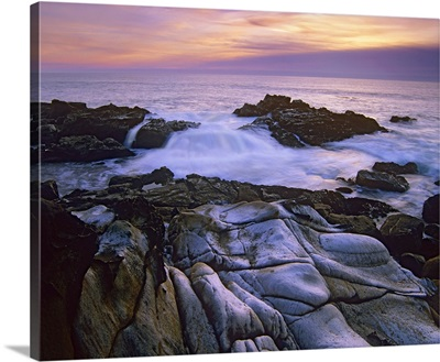 Wave hiting coastal rocks, Gerstle Cove, Salt Point State Park, California