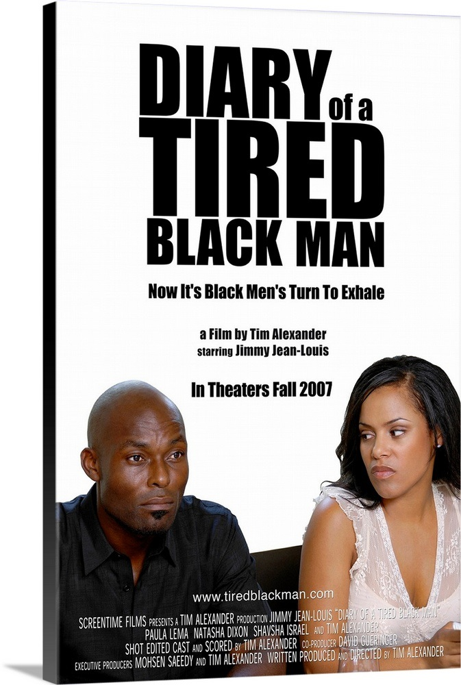 Diary Of A Tired Black Man Movie Poster Wall Art