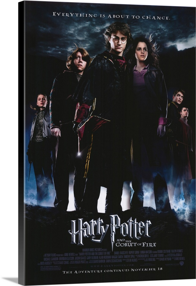 Harry Potter and The Goblet of Fire 2005 Movie Poster Canvas Wall Art Film Print