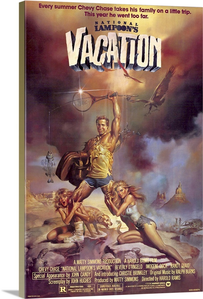 National Lampoons Vacation (1983) Wall Art, Canvas Prints